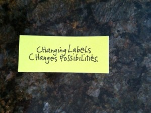 changing labels