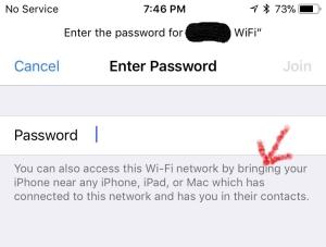 wi-fi password